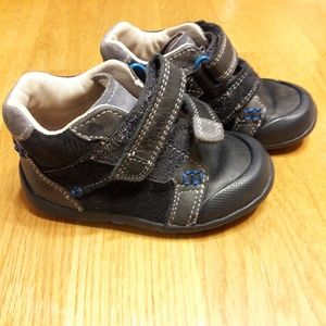 Clarks First Shoes Toddler Navy Blue Booties Sz 5